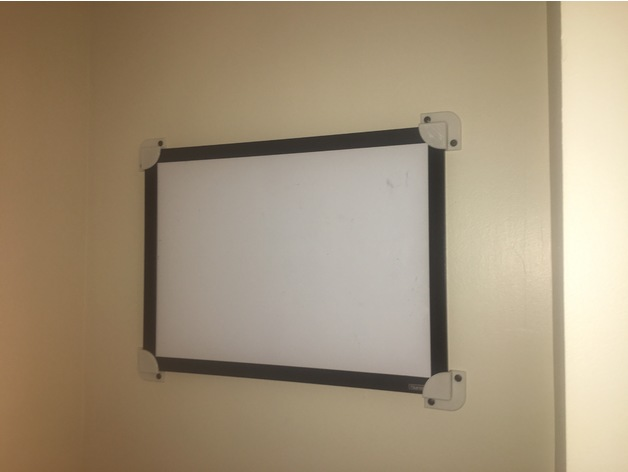 Whiteboard/picture-frame mounting brackets by 3D_DESlGN - Thingiverse