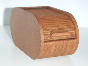 Roll Top Box Printed with Wood and Stained by Fused3D