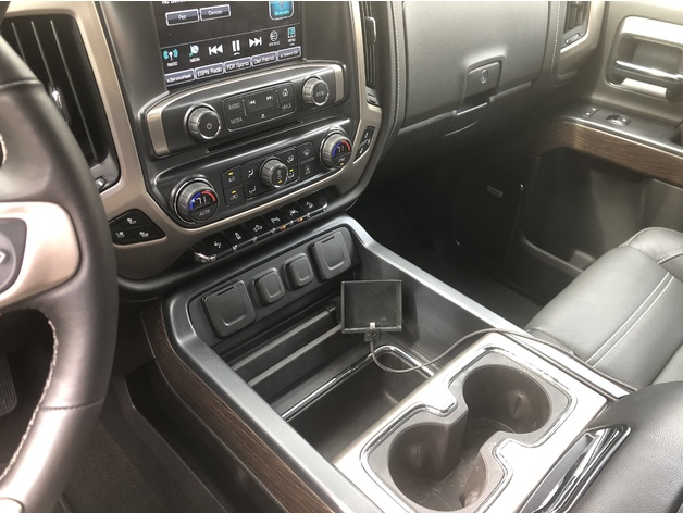 2018 Chevy Silverado >> GMC Sierra/Chevrolet Silverado iPhone Mount (2014 to 2018 with center console) by Penobscot ...