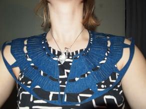 Patterned Denim Collar