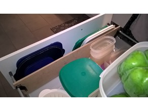 Separation plate for Tupperware covers for Ikea drawer