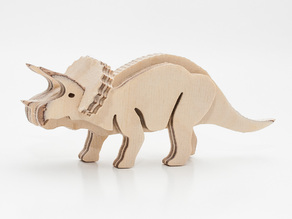 Dino Triceratops 3-layered-animal cnc/laser