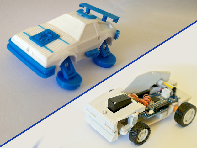 Toy car  DeLorean 3DRacers  Back To The Future