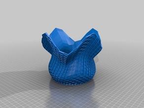 cubic wave vase