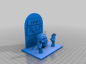 Walking Dead Tombstone With Zombie Hands