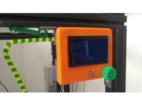 Bottom w/corner brackets for 20mm V-slot - RRD Graphic LCD controller