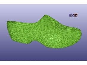 Webbed Wooden Shoe (Voronoi Style Surface Clogs)