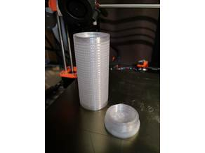 Silica gel container for spool center