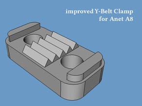 Y Belt / Y Axis Clamp for Anet A8 (improved)