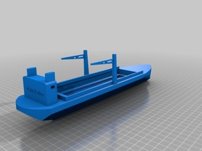 Model for Cargo ship designed in 123 D ... inspired from Challenge subject and my love to marine vessels