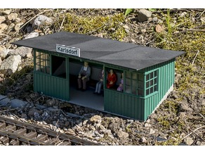 Passenger shelter for G-Scale LGB
