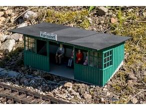 Passenger shelter for G-Scale LGB