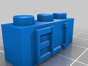 Eli 3x1 Lego Block Necklace/Keychain