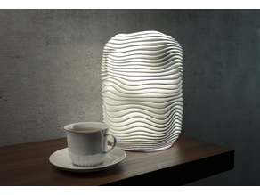 Generative design. Wave lamp 4 (LQ) version