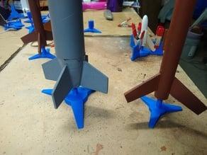 Model Rocket Display Stand