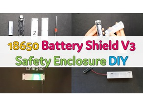 18650 battery + wemos 18650 battery shield v3 + 3d printing box