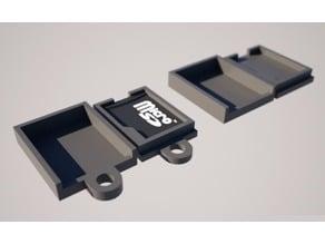 Single Micro SD Card Holder - MicroSD Keychain