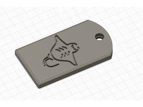 Small card holder keytag
