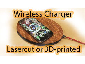 Wireless charger for cellphone or smartwatch