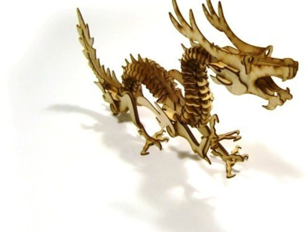 LaserCut - 3D puzzle dragon by jtronics - Thingiverse
