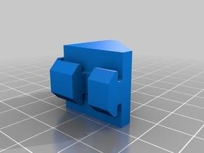 90° Angle bracket for 20x20 aluminium profile, B-type nut 6