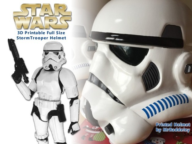 Full scale stormtrooper helmet wearable by geoffro thingiverse thingiview malvernweather Images