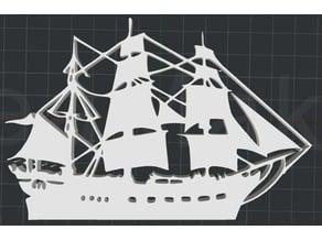 Pirate Ship 2D Wall Art