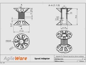 Agile Spool Adapter (20mm)
