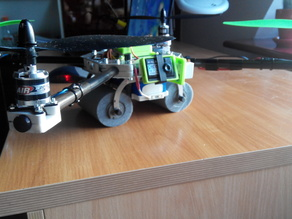 Printable quadcopter frame with micro servo 9g gimbal and Multiwii Pro 2 case