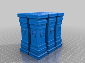 Pillars with Faces (for 28mm RPG games)