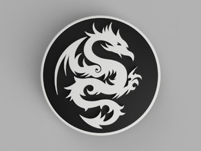 hood / trunk logo Dragon03 82mm / 74mm for BMW vehicles