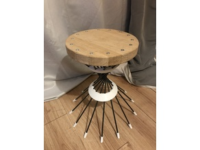 Wood, plastic and metal Stool furniture. Design by Guigs