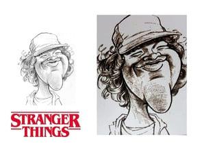 Stranger Things dibujo Dustin Henderson