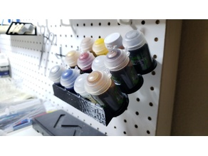 Pegboard Paint Tray