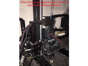Direct drive bondtech CR-10/CR-10S with drag chain and cam