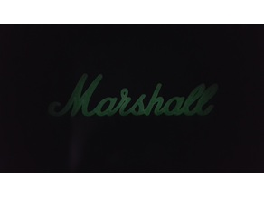 Marshall Logo. makes a great refrigerator magnet.