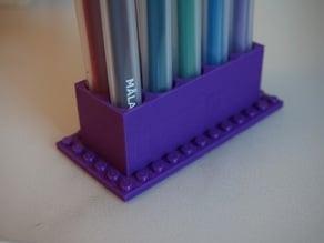 Customizable LEGO Pen Holder