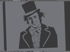 Willy Wonka Stencil