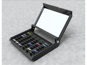 """Portable 48 Micro SD Card Index Case With 3"""" x 5"""" Card Slots"""