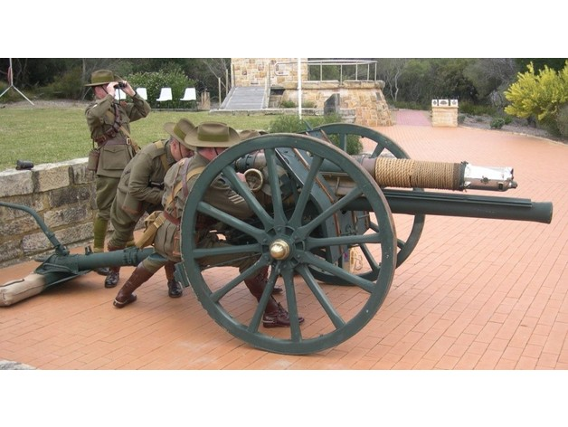 British 18 Pdr  QF  Mk  I Field Gun (1/72 Scale) by