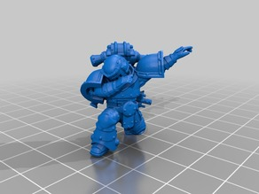 space marine doing the dab