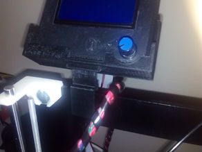 Mount for Full Graphic Smart LCD Controller to Prusa i3 Power Code