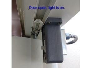 Bracket to use door jam switch on bi-fold closet door.