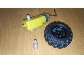 Lego wheel connector for motor/gearbox