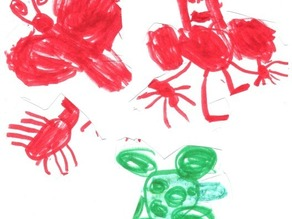 Annika's (age 4.5yrs) toy designs