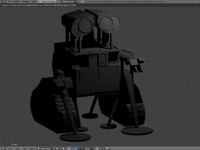 Wall-E with Built-in supports!!!