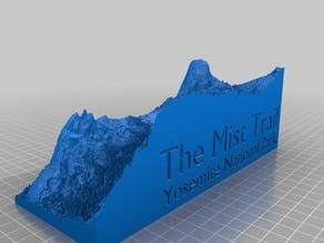 Yosemite's Mist Trail 3d map