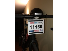 Bike race number tag holder