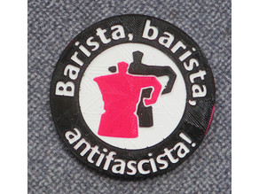 barista barista antifascisata badge