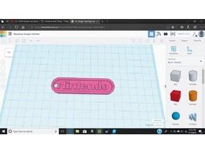 REMIX Nintendo logo keychain